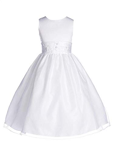 Embroidered Fully Lined Skirt - OLIVIA KOO Girls Graceful First Communion Dress (Size 2-16)