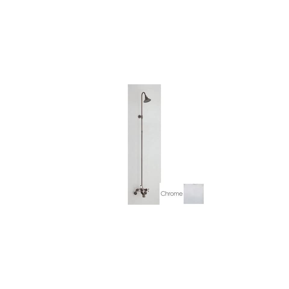 Cheviot Tub Wall Mount with Riser Shower Faucet C5158C Chrome   Bathtub And Showerhead Faucet Systems