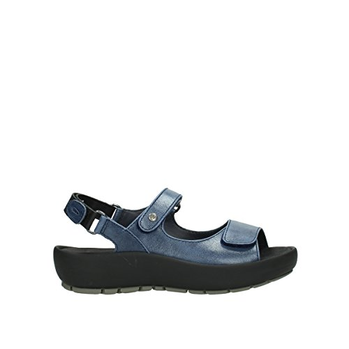 Womens Rio Sandals Wolky Blue Leather 30800 ZvqgxwAx