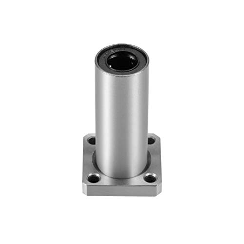 uxcell 12mm Linear Ball Bearings LMK12UU Extra Long Square Flange, 12mm Bore, 21mm OD, 57mm Length 2pcs