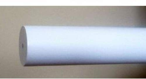 Kirsch Poles Curtain - 1-3/8 inch Wood Smooth Drapery Rod in White Finish - 6' long