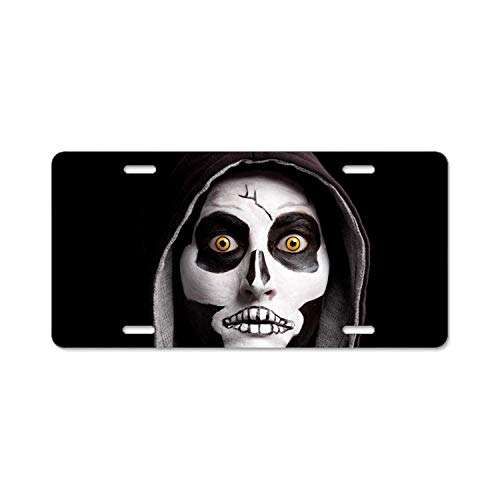 YEX Halloween Dress Up License Plate Frame with 4 Holes Novelty Car Licence Plate Covers Auto Tag Holder Tag Sign 12