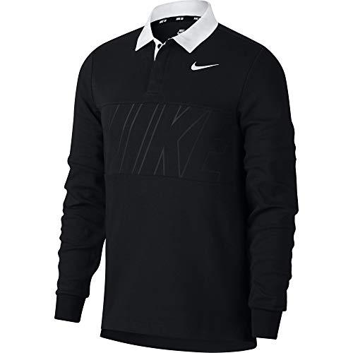 Nike SB Dri-FIT Men's L/S Men's Polo Shirt - 885847 (Black/White, Large)