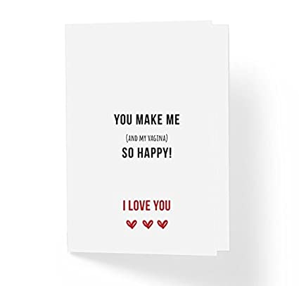 Amazoncom Witty Adult Love Greeting Card You Make Me And My Vag