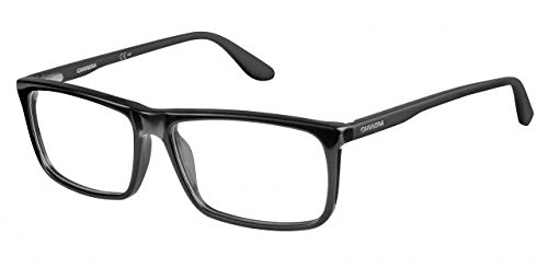 Carrera 6643 Eyeglass Frames CA6643-064H-5616 - Black / Matte Black Frame, Lens Diameter - Glasses Mens Carrera