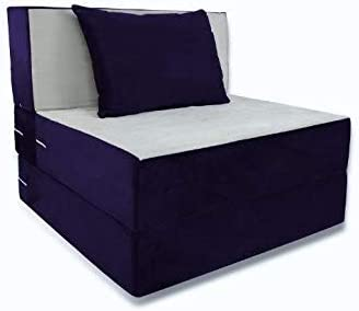 Remarkable Folding Bed Duo Single Sofa With Cushion Dark Blue And Camellatalisay Diy Chair Ideas Camellatalisaycom