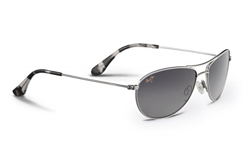 Maui Jim Baby Beach  Aviator Sunglasses, Silver Frame/Neutral Grey Lens, One - Sunglasses Women's Maui Jim