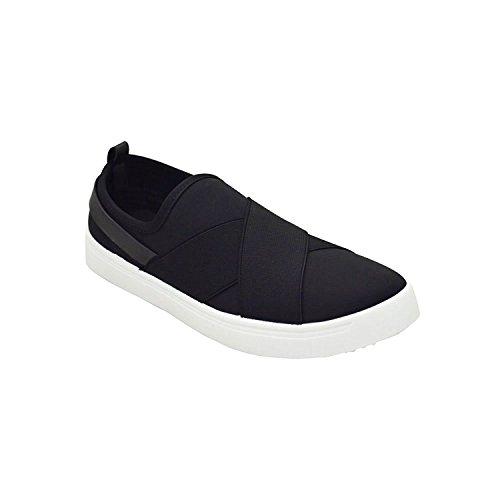 BambooShoes Women's Grand Slam Crisscross Lycra Shoe Sneakers (9, Black)