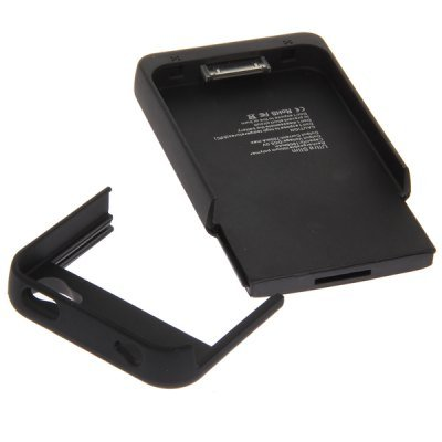 Ultra Slim 1900mAh Power Ladegerät Externe Handy Akku Case Cover für iPhone 44S