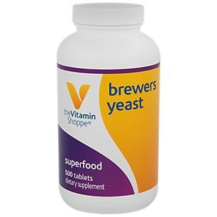 The Vitamin Shoppe Brewer's Yeast 3,900MG, Superfood, Source of B Vitamins, Naturally Occurring Trace Minerals (500 Tablets) (Best Brewers Yeast Tablets)
