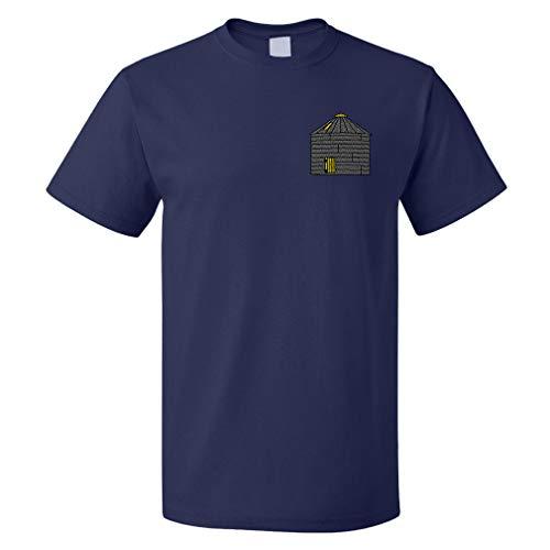 Speedy Pros Funny Graphic T Shirts for Men Grain Bin Cotton Top Navy Medium
