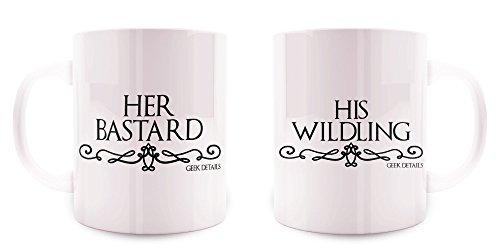 Geek Details His Wildling   Her Bastard Couples Mug Set