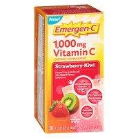 Emergen-C 1000 mg Vitamin C, Strawberry-Kiwi, 30 ea - 2pc