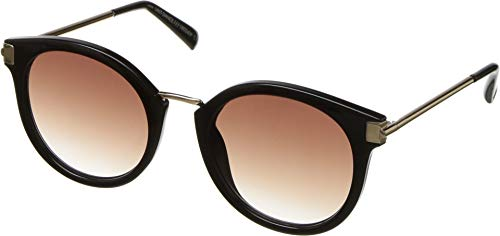 Le Specs Women's Last Dance Sunglasses, Black/Warm Smoke Grad, One ()