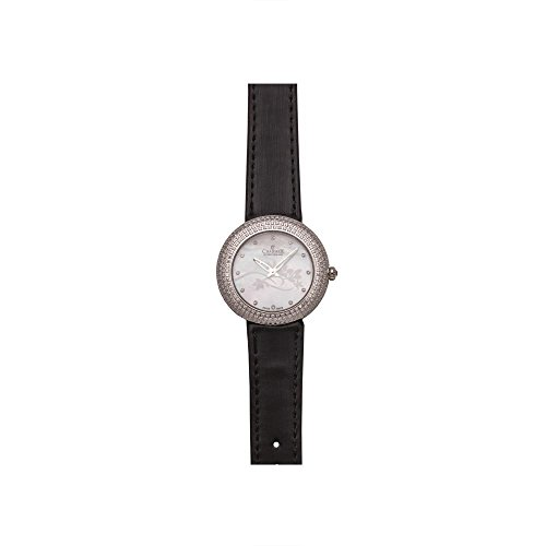 Charmex Las Vegas 6306 35mm Stainless Steel Case Black Calfskin Synthetic Sapphire Women's Watch