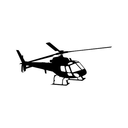 RDW Flying Eurocopter AS350 Helicopter Sticker - Decal - Die Cut - Black