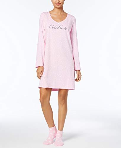 Charter Club Dot Print Cotton Sleepshirt Matching Socks Medium from Charter Club