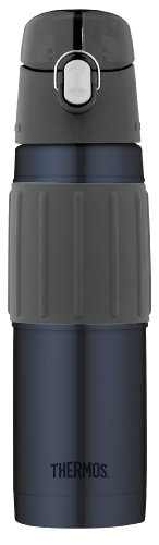 Thermos Vacuum Insulated 18 Ounce Stainless Steel Hydration Bottle, Midnight Blue Insulated Top Mount