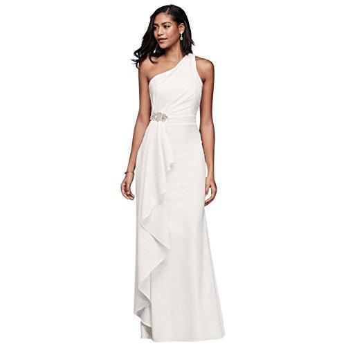 One Shoulder Sheath Wedding Dress