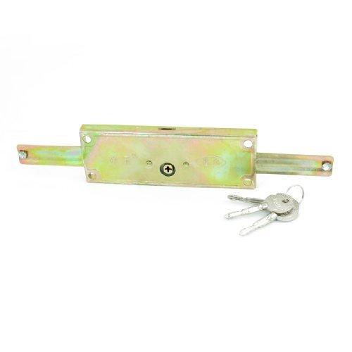 DealMux Início da garagem de rolamento Shutter Door Lock Bronze Tone w 3 Pcs chave transversal Replacment