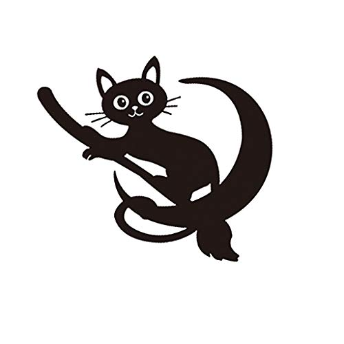 Wall Stickers Wall Decal Wall Decals Murals, LYYZU Carved Craft Cute Cat Wallpaper Removable Personality Wall Stickers Murals Cabinet Stickers Toilet Decorative Decal ()