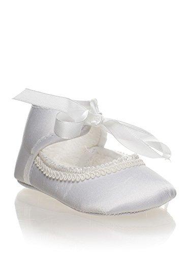 Sevva, Chaussures Bébé Fille, Fille Chaussures De Baptême, Chaussures Bébé, Bébé 0-4 - Blanc, Enfant En Bas Âge 0