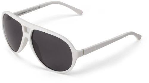 D&G Dolce & Gabbana 0DG6076 261987 Aviator Sunglasses,White Rubber,61 - 2013 Sunglasses D&g