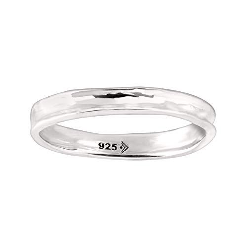 Silpada 'Belle Fleur' Stacking Ring in Hammered Sterling Silver