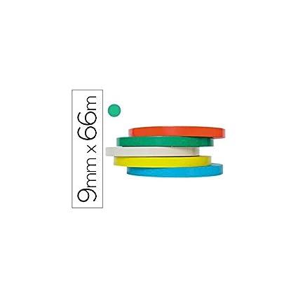 Tesa 4204-58 - Cinta adhesiva, 66 m x 9 mm, color verde ...