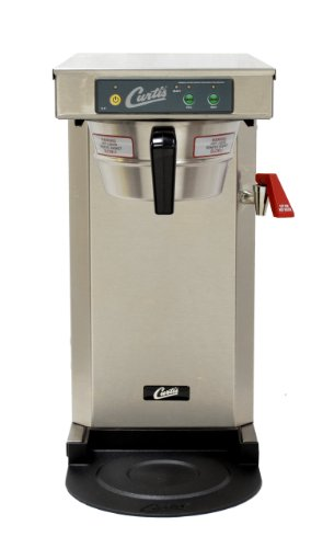 Wilbur Curtis G3 Low Profile Airpot Brewer 2.5L Airpot/Pourpot Single Low Profile Coffee Brewer Stainless Steel Finish - Commercial Airpot Coffee Brewer  - TLP12A19 (Each) by Wilbur Curtis