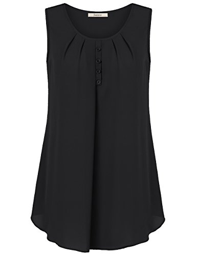 womens-shirtsjazzco-summer-short-sleeve-v-neck-pleated-front-comfortable-cool-tunic-topblackx-large