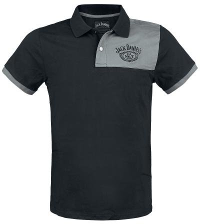 Jack Daniels Poloshirt Daniel's Old No. 7 Classic Vintage Logo Größe M Polo Shirt T-Shirt