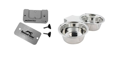 Kennel-Gear 1-Pint Double Dog or Cat Bowl