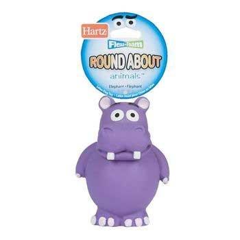 Hartz Flexa-Foam Round About Hippo Dog Toy, My Pet Supplies