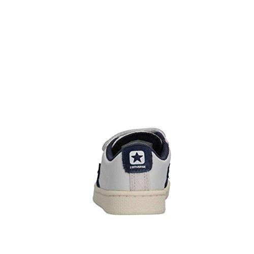 Piel 758961c Leather Converse bleu Blanca Pro Niños Bianco Zapatillas 2v En xC8UYw