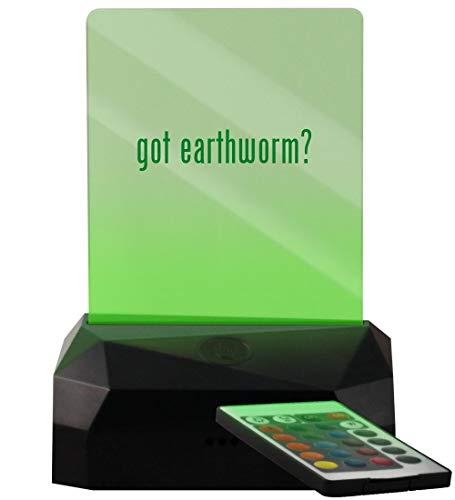 - got Earthworm? - LED USB Rechargeable Edge Lit Sign