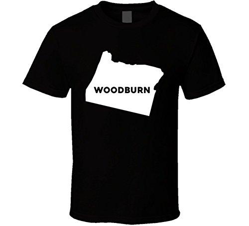 Woodburn Oregon Custom City Patriotic USA Map T Shirt 2XL - Oregon Woodburn Of Map