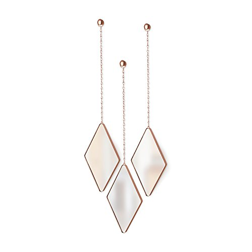 Umbra Dima Mirrors (Set of 3), Copper - Umbro Diamond Shopping Results