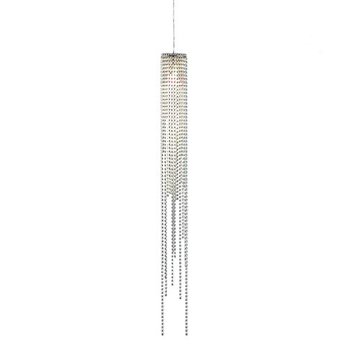 NOVA of California 6341 Bead Pendant, Height 28-Inch, Brushed Nickel Chain - Shade Bead Chandelier