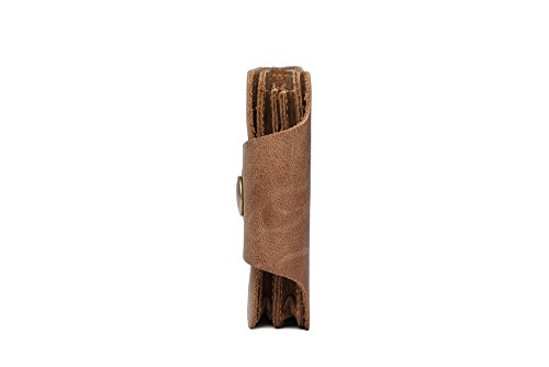 Central Tan Flaps Hautton Outer Notes Secure 11 Compartment Leather Stud Pouch Credit Layer Wallet ID Card Tan Slots RTSWrnRq