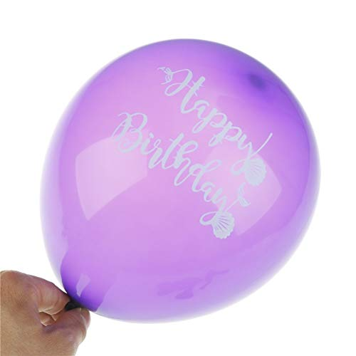 Ballons Accessories - 10pcs Mermaid Confetti Happy Birthday Latex Balloons Party Decorations Baby Shower Wedding Supply - Accessories Ballons Balloons