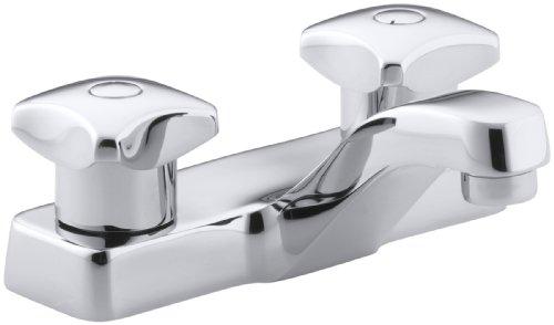 KOHLER K-7404-2A-CP Triton Centerset Lavatory Faucet, Polished Chrome
