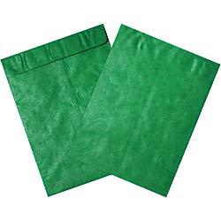 Office Depot Brand Tyvek Envelopes, 9in x 12in, Green, Pack of 100 by Office Depot