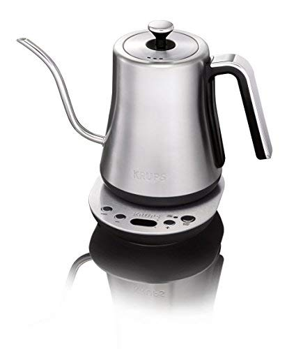 Krups BW760D51 Gooseneck Electric Kettle, 1.2 L capacity, 30-minute keep warm, Precise pouring, Stainless Steel