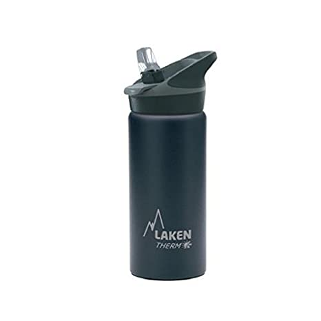 Laken Jannu Botella Térmica Acero Inoxidable 18/8 y Doble Pared de Vacío, Unisex adulto, Negro, 500 ml