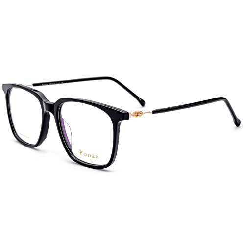 FONEX Prescription Eyeglasses Spectacles Myopia Optical Frames Eyewear TB5203(black, 54)