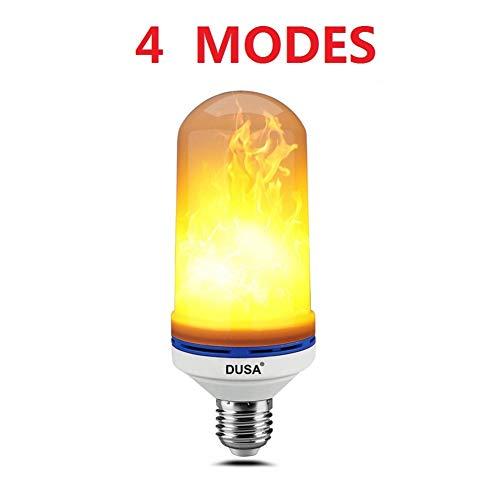 DUSA Flame Bulb, LED Flame Effect Light Bulb,E26 LED Flickering Flame Light Bulbs,Simulated Decorative Light Atmosphere Lighting Vintage Flaming Light Bulb for Bar/Festival Decoration