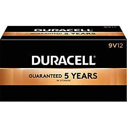 (Duracell Coppertop 9-Volt Alkaline Batteries, Pack of 72)