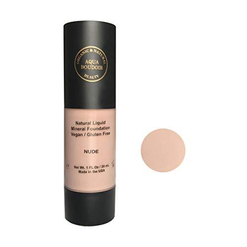 (Aqua Boudoir Natural Organic Liquid Foudation Makeup, Gluten-Free, Vegan, Cruelty-Free, Non Comedogenic, Hypoallergenic - color 16)