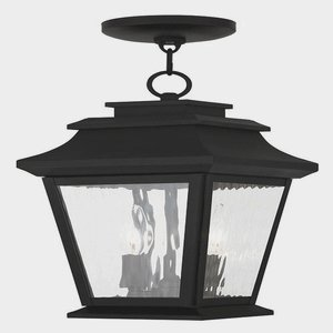 Livex Lighting 20233-04 Hathaway 2-Light Outdoor Hanging Lantern Lantern, Black by Livex Lighting
